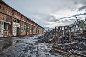Burnt Down factory