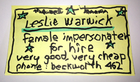 Leslie's Business Card