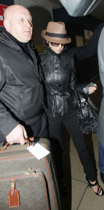 CHERYL COLE ARRIVING AT HEATHROW AIRPORT