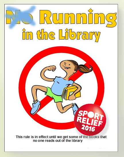 Beckworth_Running In The Library_Sports Relief